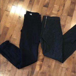 2 pairs J Crew pixie pants